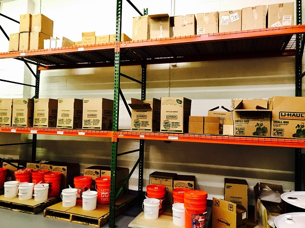 FULLY STOCKED INVENTORY ENSURES RAPID SHIPMENT OF ORDERS