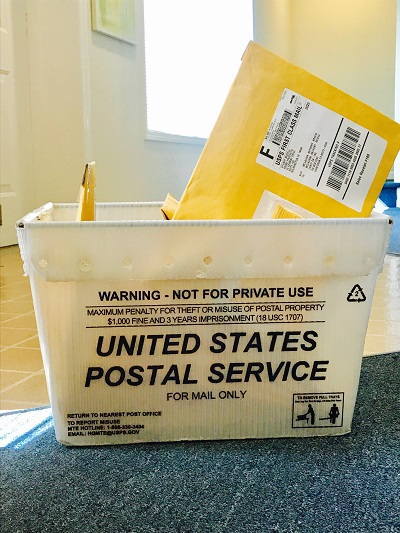 US POSTAL SERVICE STARTS AND ENDS THE PROCESS